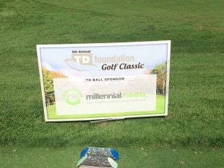 Millenial TD Golf 2015 Tee Box Sponsor Sign