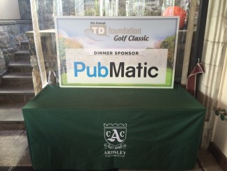 Pubmatic Dinner Sponsorship Sign TD Golf 2015